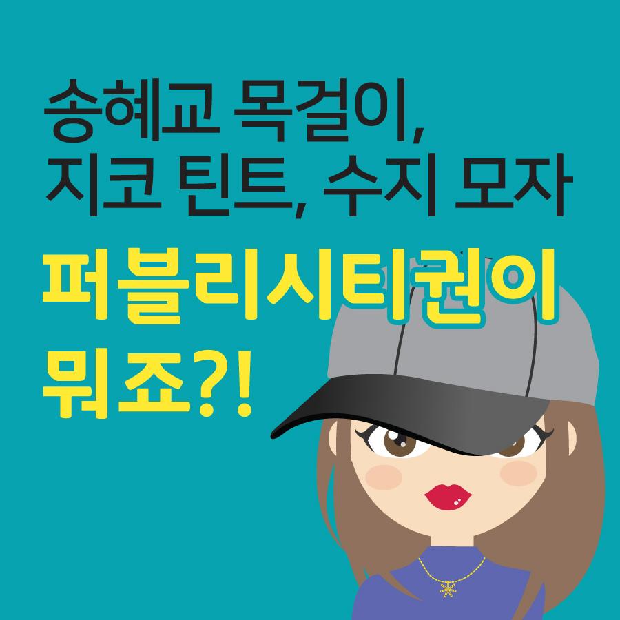 [한국상표지식]송혜교 목걸이, 지코 틴트, 수지 모자…퍼블리시티권이란?